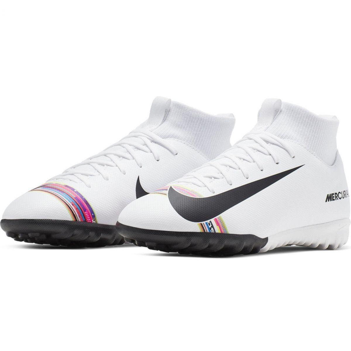 Nike Mercurial Superfly X 6 Academy Tf Jr Aj3112 109 Football Boots White Multicolored Astro Turf Trainers Football Boots Astro Football Boots