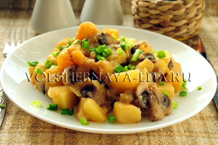 картошка с грибами в мультиварке рецепты с фото