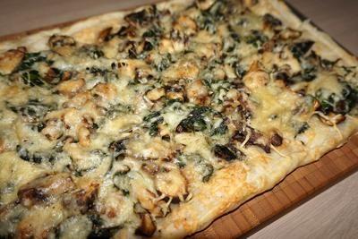 Een heerlijke plaattaart op tafel toveren is zo gedaan. Helemaal met dit mooie recept. Bladerdeeg gevuld met gemengde paddestoelen, spinazie en Parmezaanse kaas. Binnen no-time zet je weer een lekkere maaltijd op tafel!