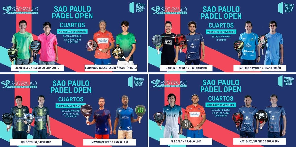 Cuartos De Final Wpt Sao Paulo 2019 Padelstar Sao Sao Paulo Padel