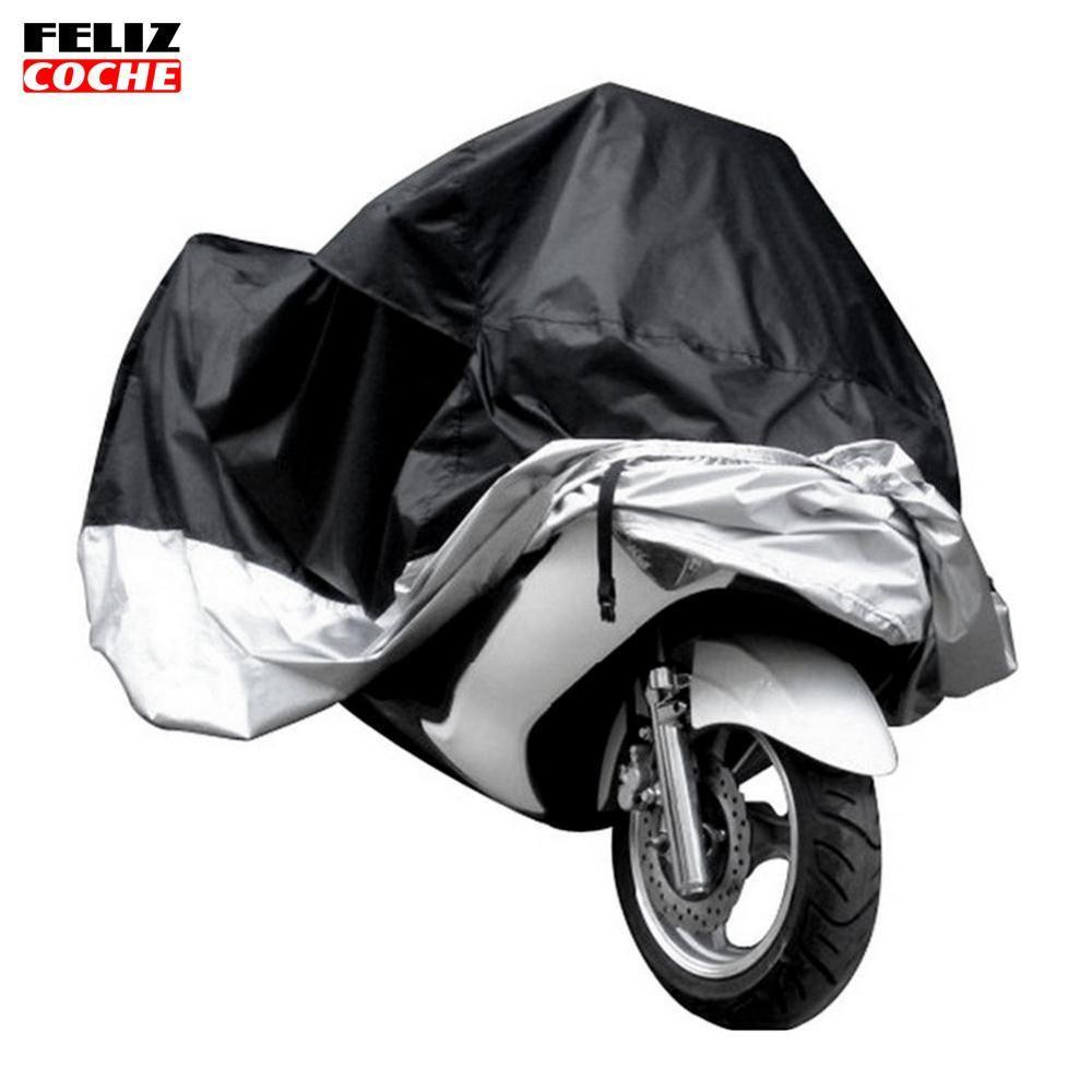 XL Motorcycle Waterproof Outdoor Motorbike Bike Rain Cover XL Silver Storage /_UK