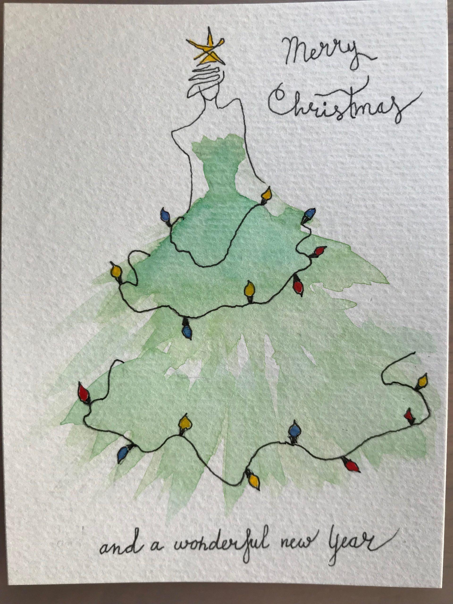Current Christmas Cards 2020 aquarell weihnachten #weihnachten Christmas Dressing.#aquarell