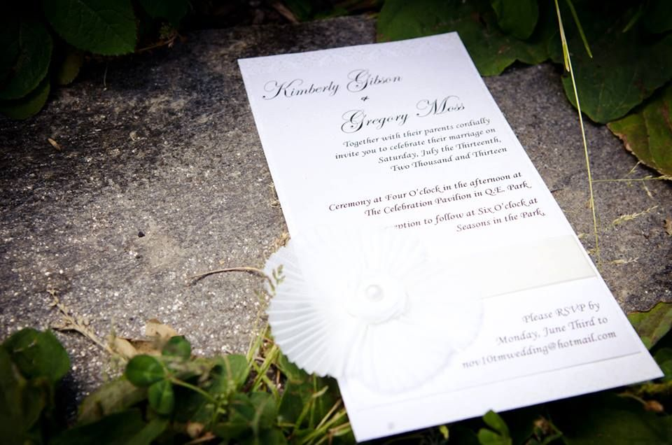 Vancouver #Wedding #Invitations Classic white/ivory design with ...