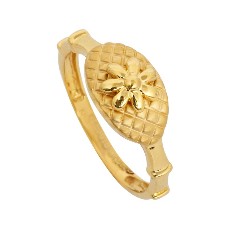 GRT | Collections | Gold | Rings | Round Flowerr 22KT Gold Ring ...