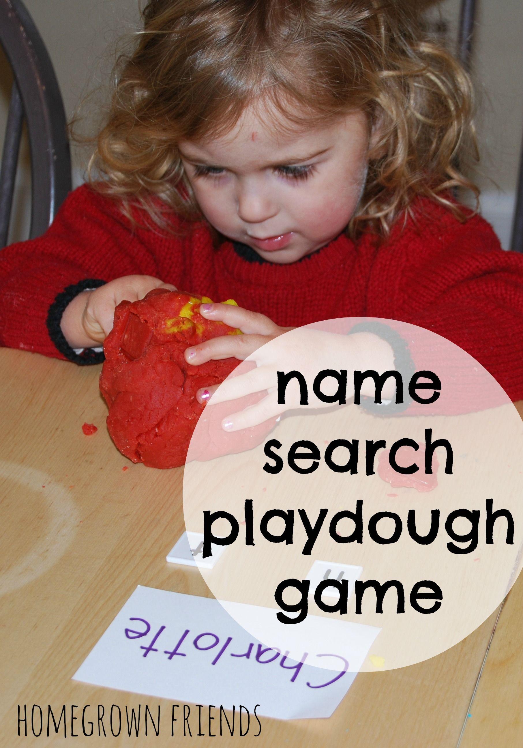 Name Search Playdough Game