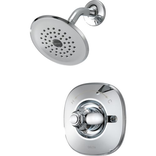 Zoomed: Delta Nura Chrome 1 Handle Shower Faucet With Single Function  Showerhead