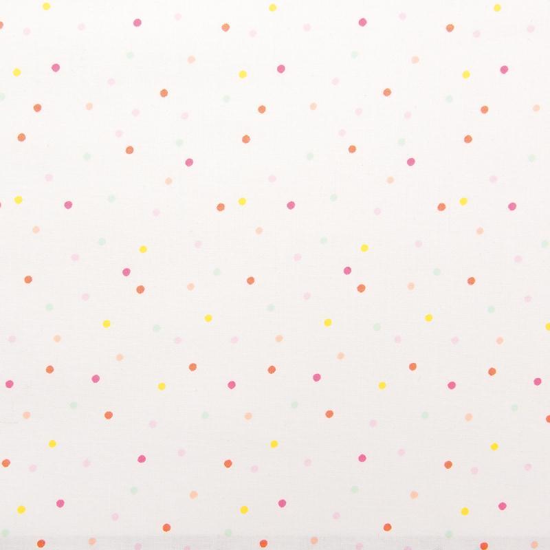 Achetez à Prix Mini le produit Tissu Rico - Confetti pastel - Fond blanc néon - Coton - Par 10 cm (sur mesure) - Achat Facile dans le rayon Tissus - Paiement Sécurisé - Service Client Disponible - Livraison Rapide et Offerte* !