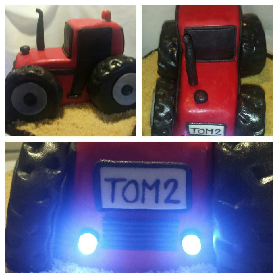 Motivtorte Mit Fondant Als Traktor Mit Led Beleuchtung Motivtorten Ohne Fondant Motivtorte Led Beleuchtung