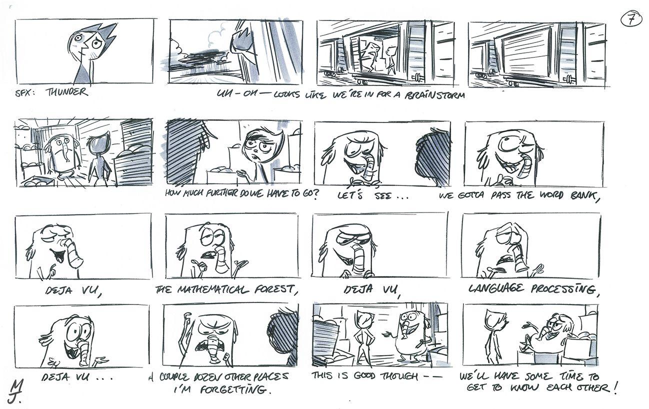 Matt Jones Storyboard Examples Matt Jones Character Design