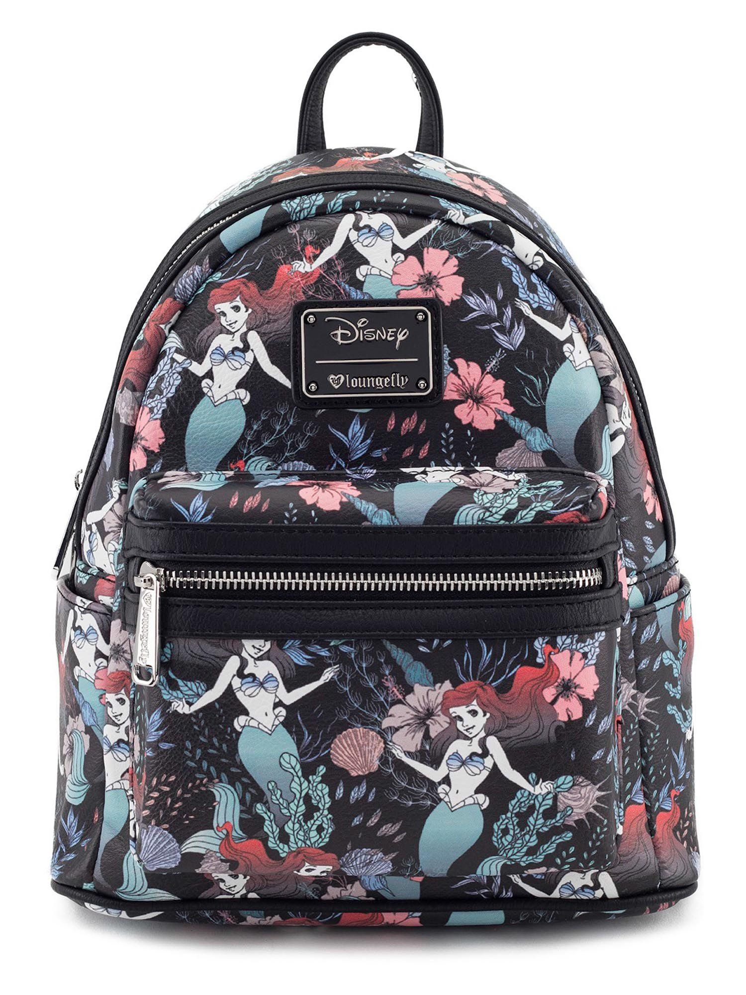 c7d39b2008 Loungefly Disney Ariel The Little Mermaid Floral Mini Backpack Purse ...