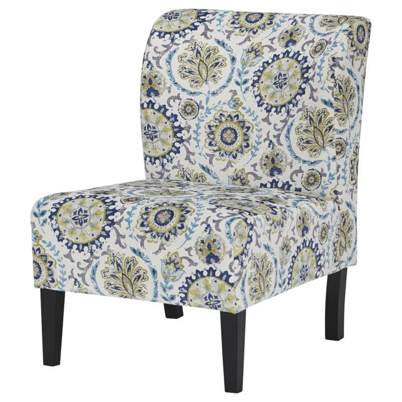 Best Peabody Slipper Chair Blue Accent Chairs Printed Accent 400 x 300