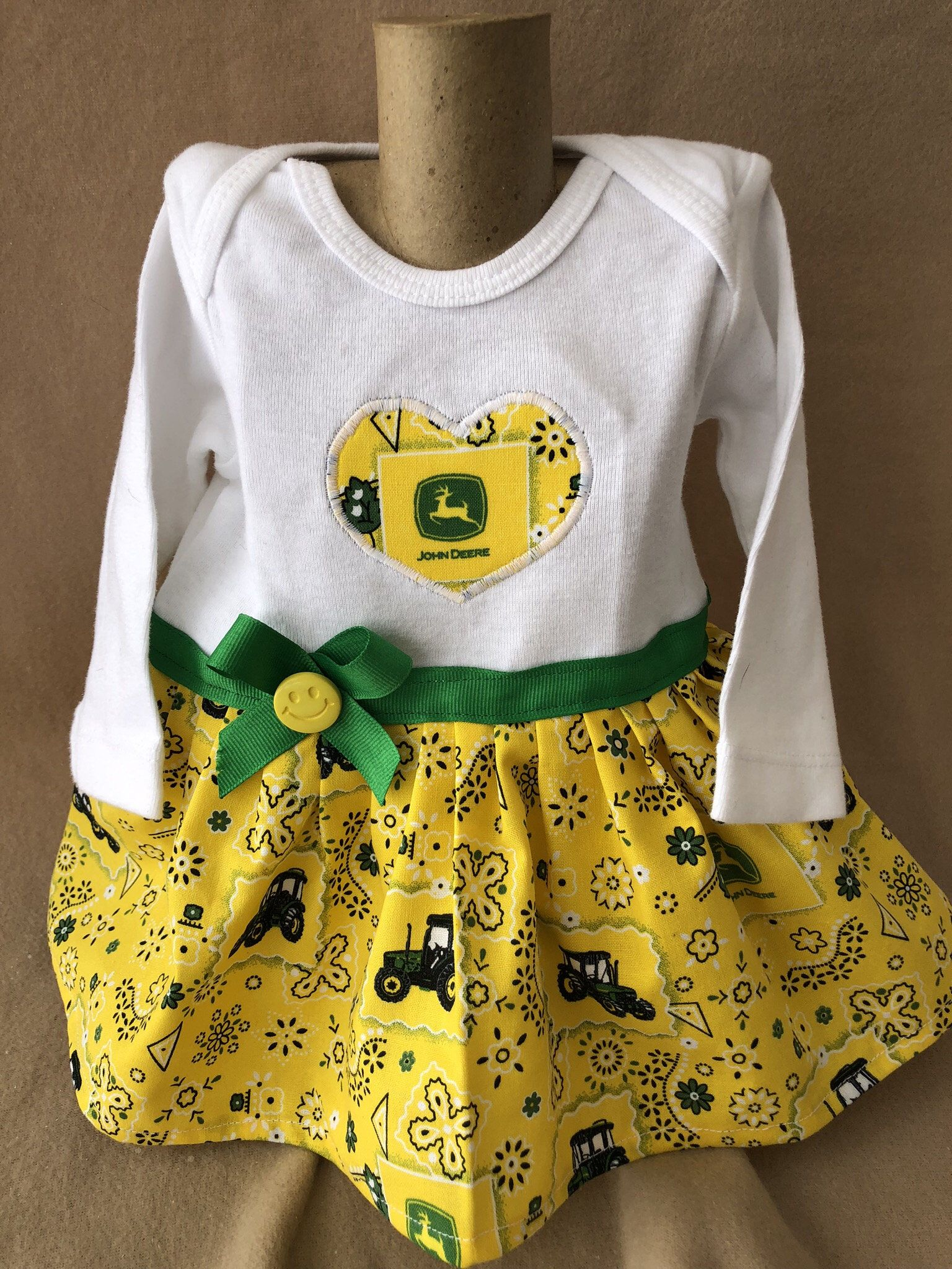 1c0baa109 Excited to share the latest addition to my #etsy shop: 3 months girls  infants John Deere onesie/ girls onesie dresse/ girls clothes/ tractors