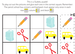 Year One Puzzles Sudoku Worksheets Free Printables Education Com Kindergarten Puzzles Addition Math Puzzles Free Printable Worksheets - Get Puzzle Worksheets For Kindergarten Pics