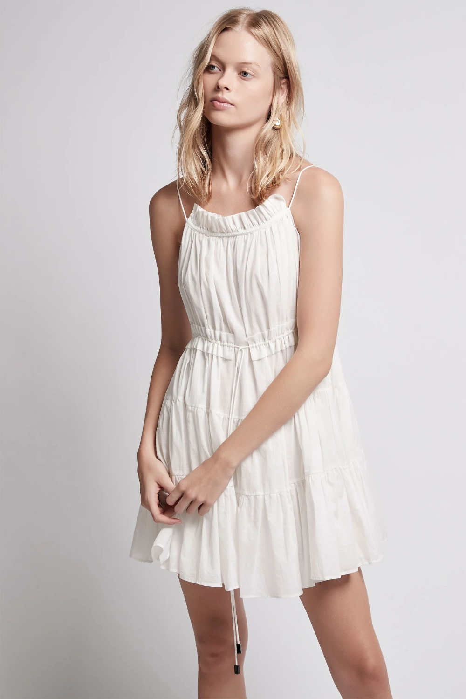Armeria Tiered Mini Dress In Lily White Aje Mini Dress Dresses Fashion [ 1500 x 1000 Pixel ]