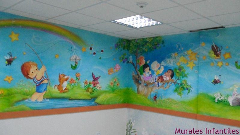 Murales maravillosos murales infantiles t ideas para for Murales infantiles pared