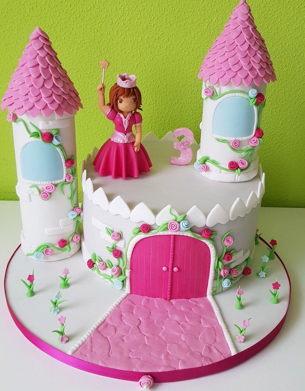 prinzessinen torte schloss mit prinzessin