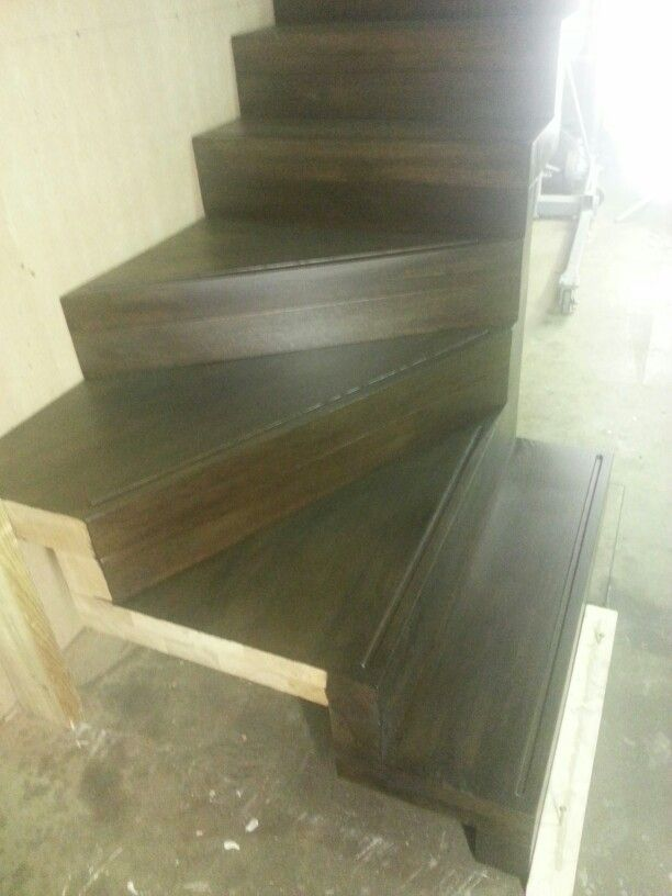 Oak stained walnut staircase