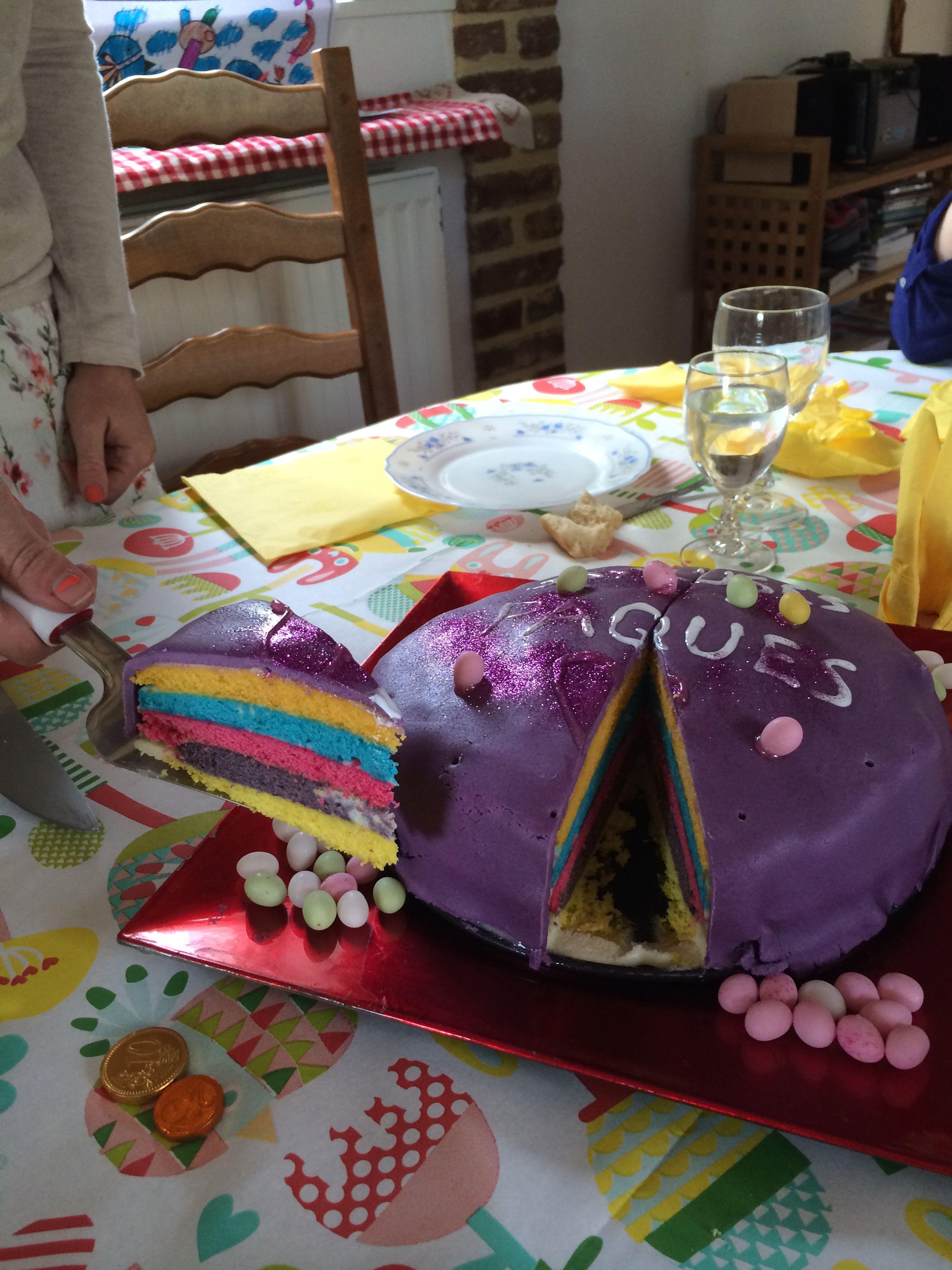 Rainbow cake le gâteau arc-en-ciel ;-)