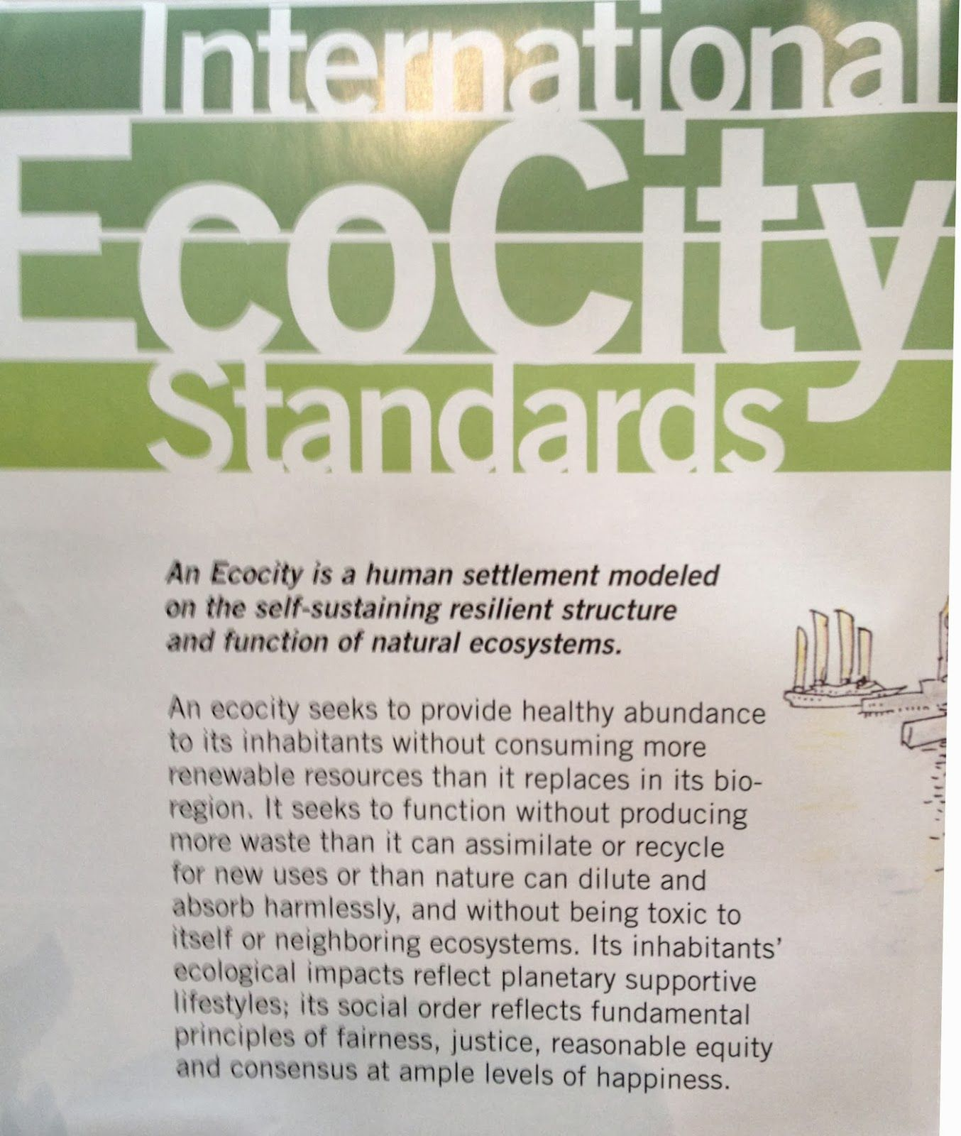 One definition anyway... Sustainable city, Eco city