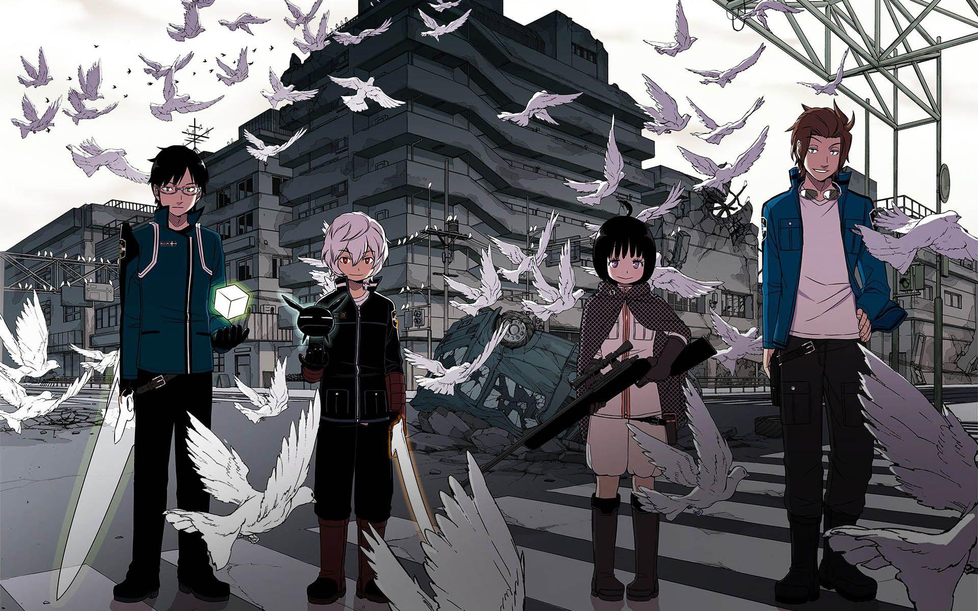 World Trigger Jin Chika Yuma Osamu Wallpaper