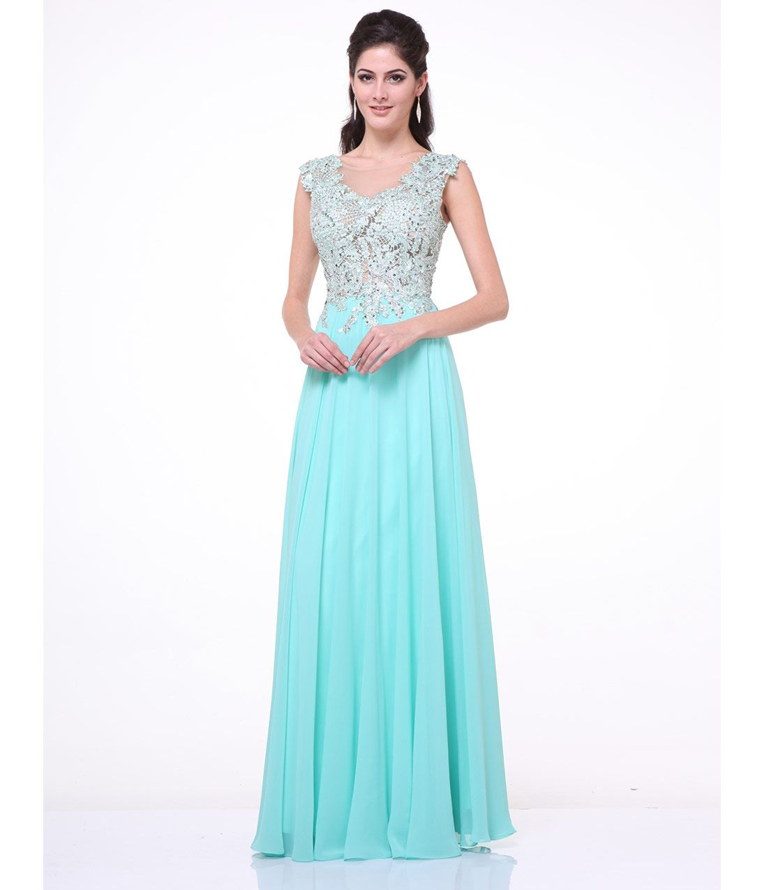 Mint lace bodice chiffon gown for prom 2017 lace bodice long mint lace bodice chiffon gown for prom 2017 ombrellifo Gallery