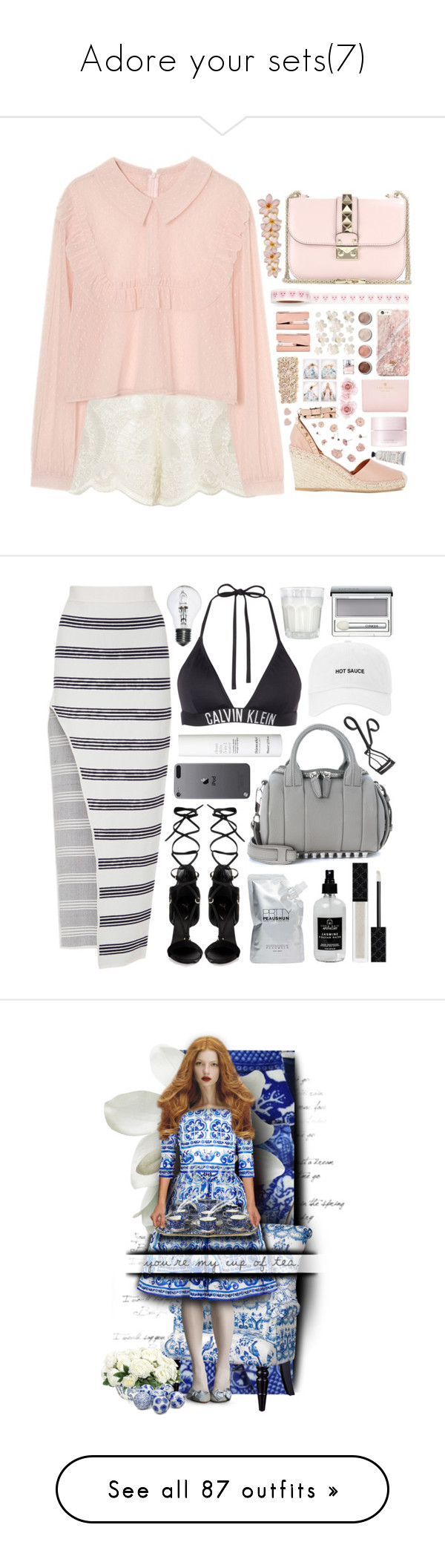 """""""Adore your sets(7)"""" by rainie-minnie ❤ liked on Polyvore featuring Alexis, Valentino, Terre Mère, Kate Spade, SUQQU, Tom Dixon, HUGO, Nasty Gal, Pier 1 Imports and Alice McCall"""