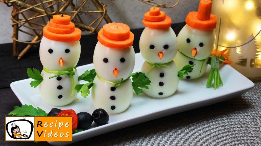 EGG SNOWMEN RECIPE WITH VIDEO - simple Egg snowmen recipe