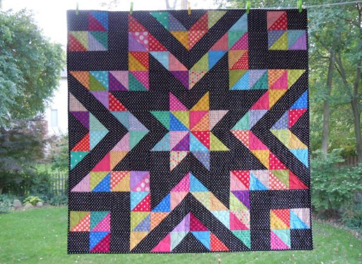 A Beautiful Collection of Half Square Triangle Quilt Patterns ... : triangle pattern quilt - Adamdwight.com