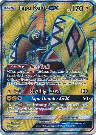 Tapu Koko Gx 135 145 Full Art Ultra Rare Pokemon Pokemon