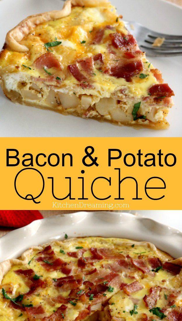 Bacon and Potato Quiche | Kitchen Dreaming