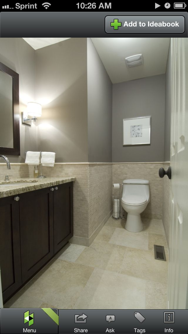 Bathroom  grey with sand colored tile  bathroom reno in 2019  Grey bathrooms Home Decor
