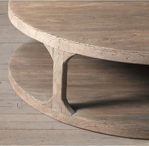 Martens Round Coffee Table Restoration Hardware 36 Inch: RH's Martens Round Coffee Table