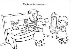 Maestra De Infantil Habitos Diarios En Infantil Normas Y Rutinas Lavar Manos Higiene Personal Ninos Ninos En El Colegio Habitos De Higiene
