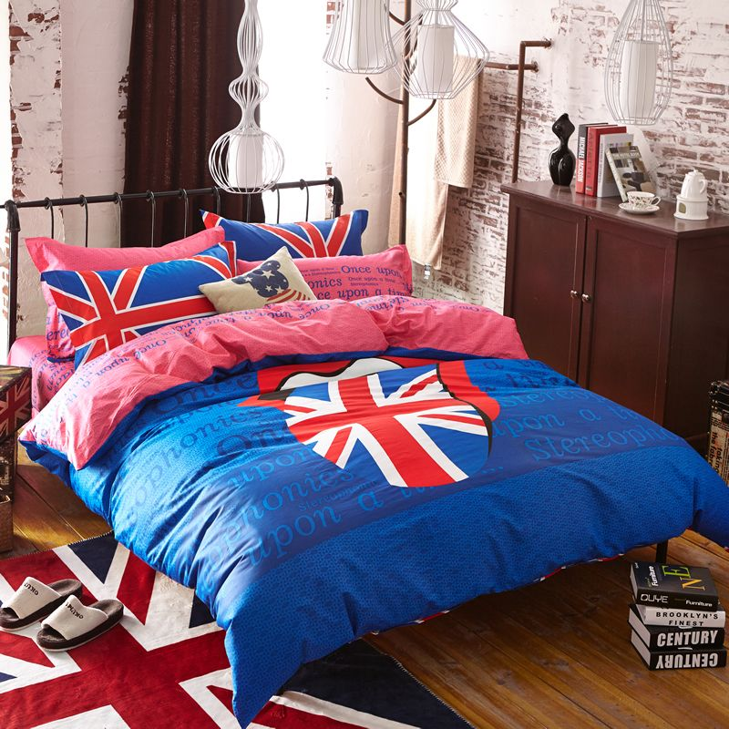 High quality Bedding sets British flag Sheet Set Duvet