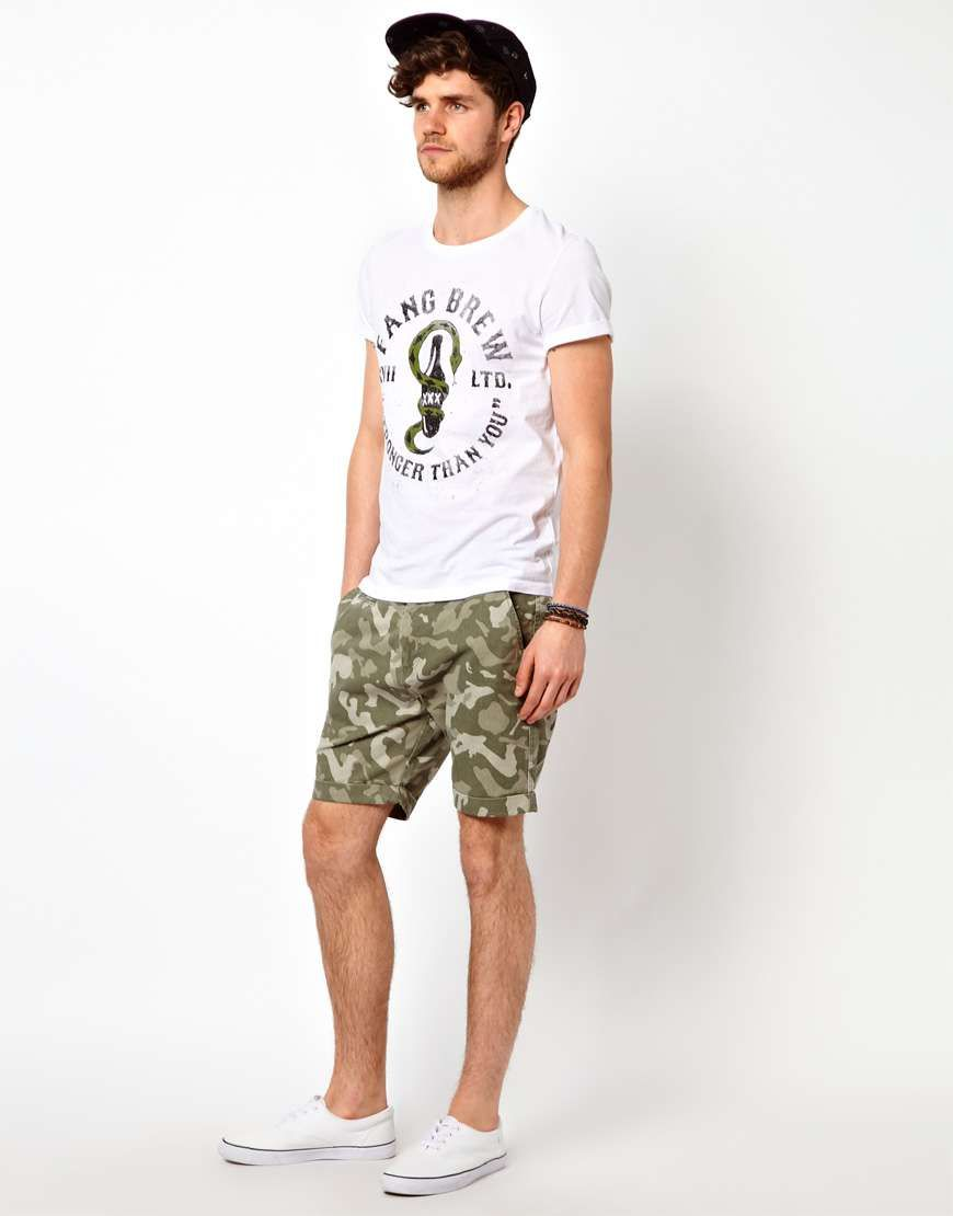 Selected Camo Shorts on Wantering