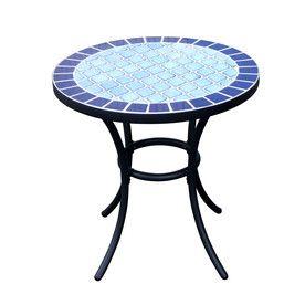 Shop Garden Treasures Pelham Bay Round End Table At Lowes Com Round Garden Table Round Patio Table Round Outdoor Table