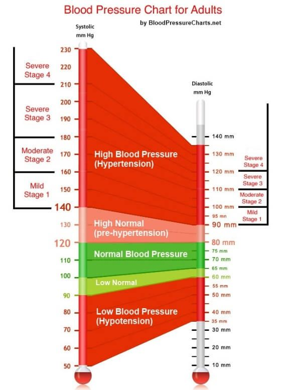Blood Pressure Chart For Adults  High Blood Pressure Blood