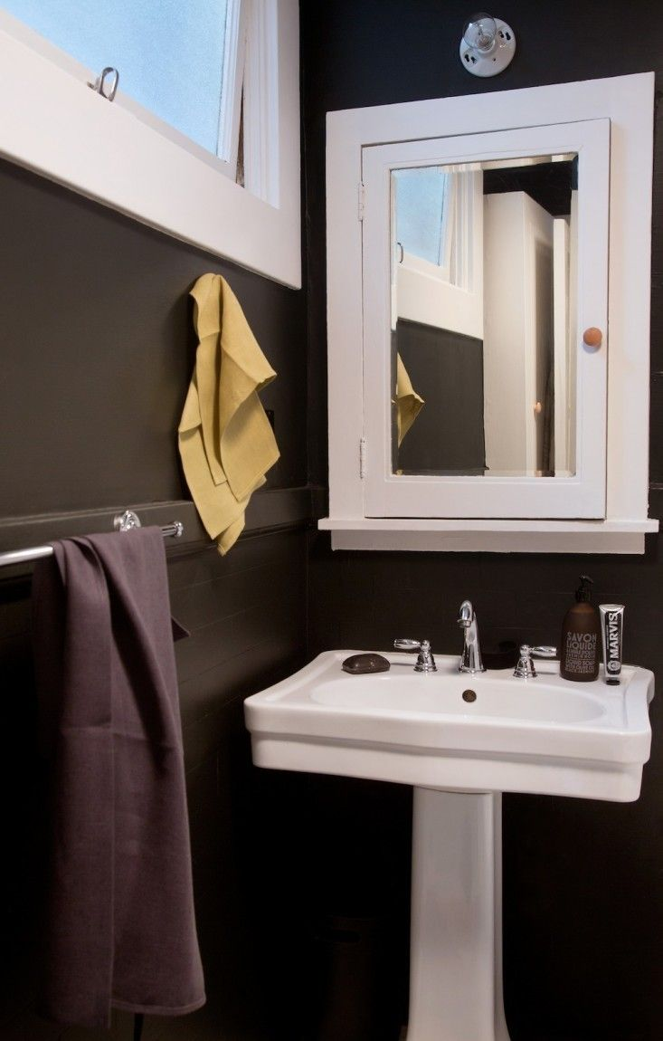 Back from Black: Repainting the Bath from Dark to Light | Bathroom ...