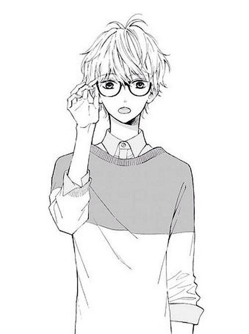 Monochrome Male Light Cute Anime Guys Anime Glasses Boy Anime