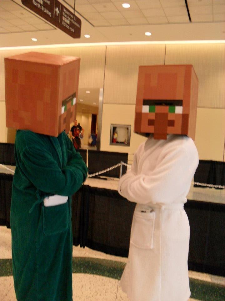 Minecraft Villager Head Costume Minecraft Villager/Tes...