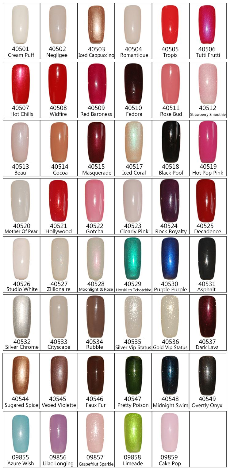 Soak Off / Gel Nails Come In Large Varieties Of Color. If
