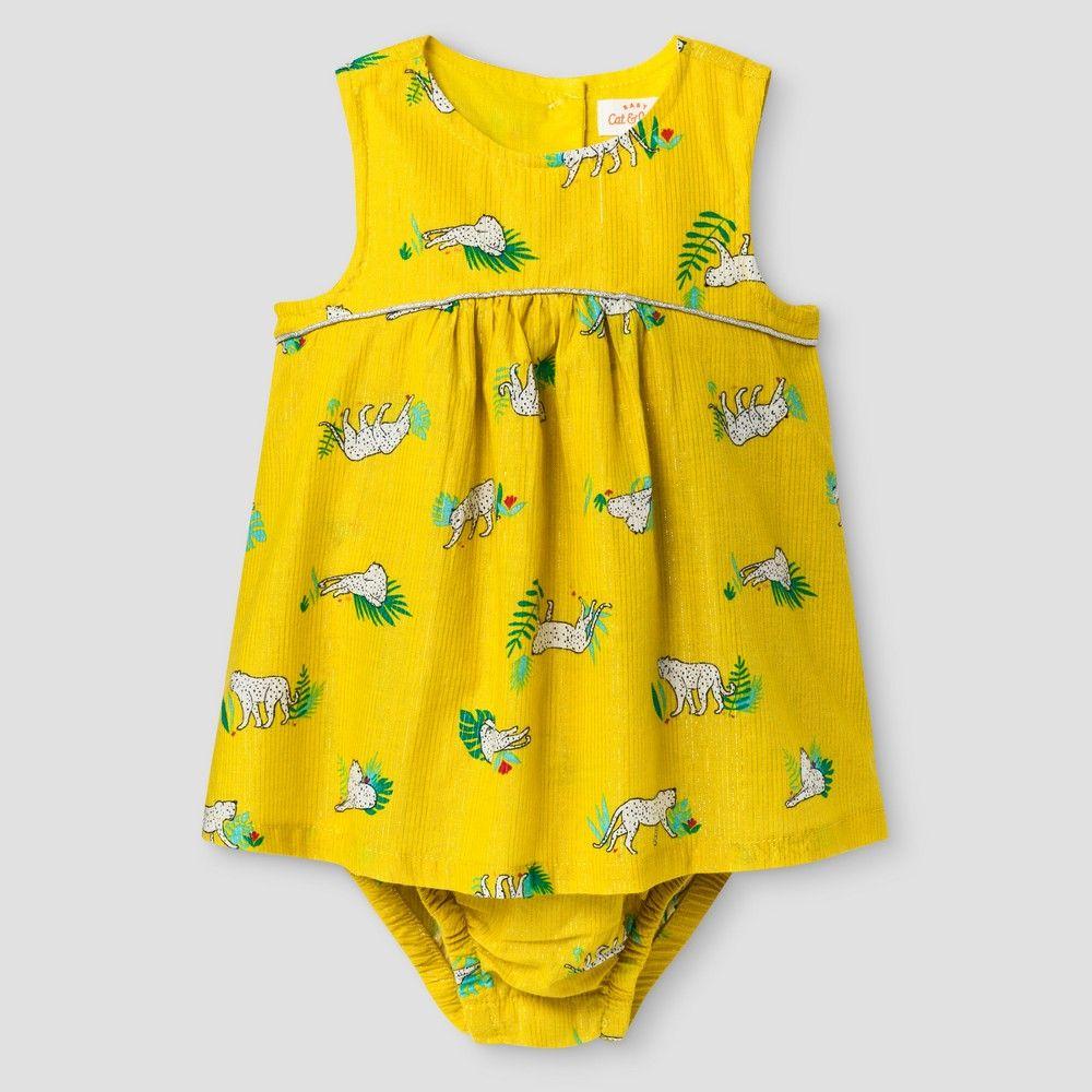Yellow dress 3-6 months  Baby Girlsu Lurex Stripe Romper  Baby Cat u Jack Yellow  Months