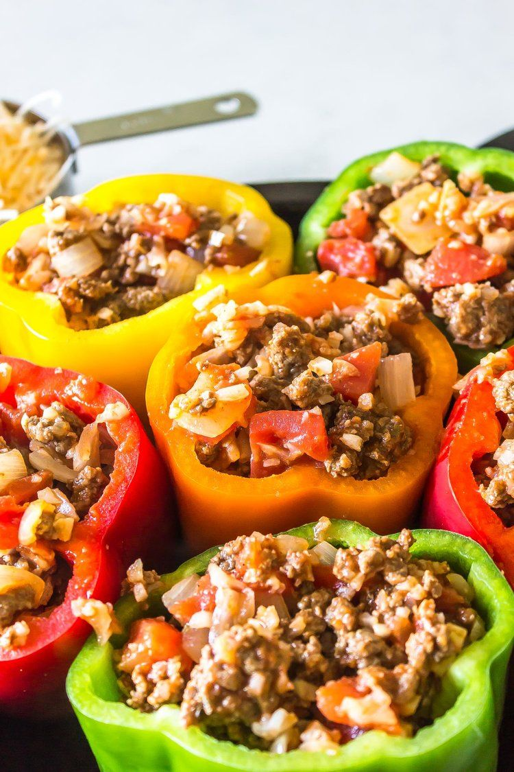 Keto Stuffed Peppers Classic Recipe Cast Iron Keto Recipe In 2020 Stuffed Peppers Keto Stuffed Peppers Keto Beef Recipes