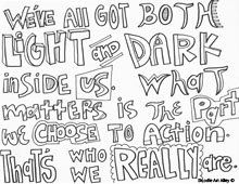 Harry Potter Quotes Coloring pages Doodle Art Pinterest