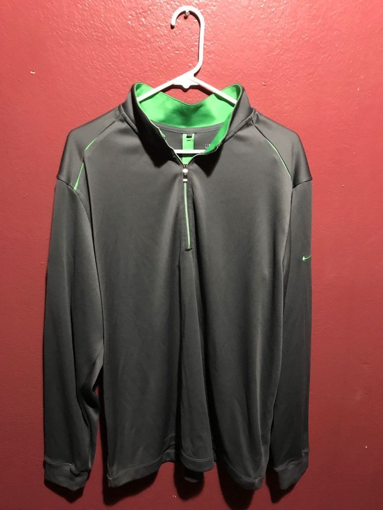 on sale 714d9 0162c Oakland A's Nike Golf Dri Fit Half Zip Pullover Men's Size ...