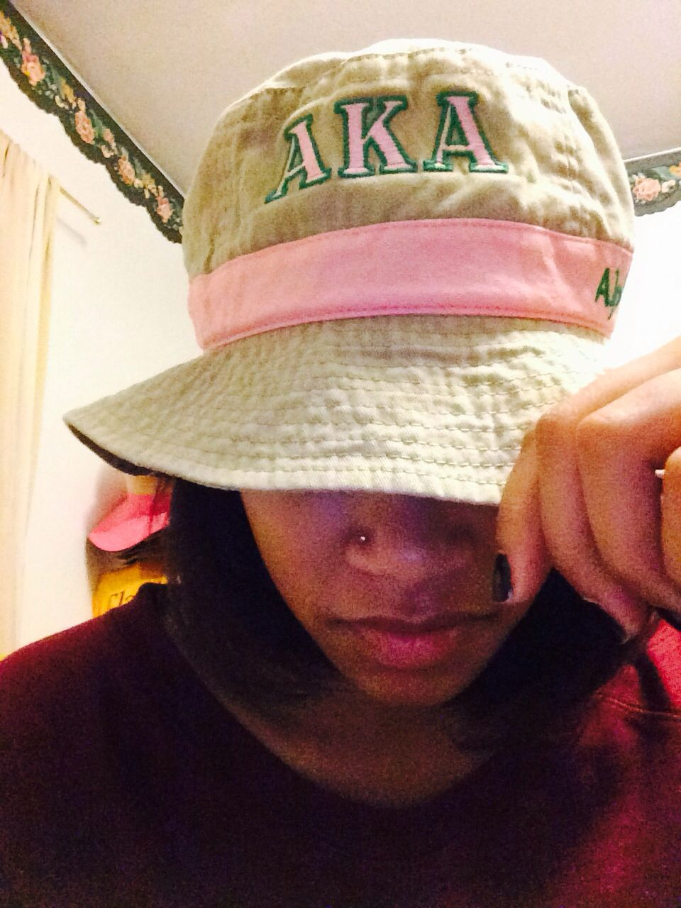 Recent gift someone bought me! Loving this AKA bucket hat!  49d3ab33867