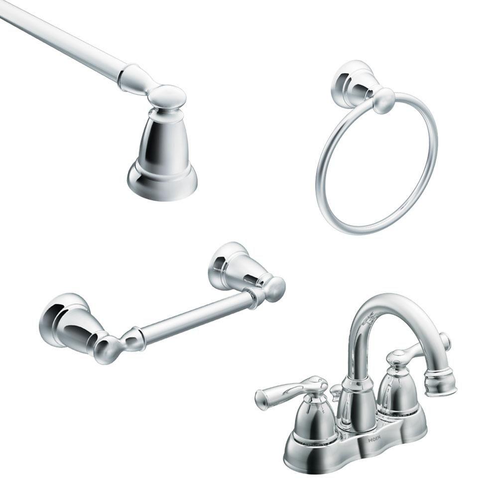 Moen Banbury 4 In Centerset 2 Handle High Arc Bathroom Faucet In