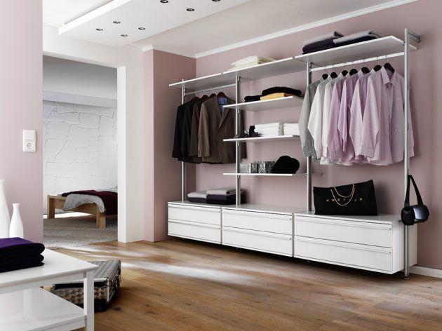 Great Offener und begehbarer Kleiderschrank Garderobe Ideen f r offene Raumgestaltung alu mobile Systeme