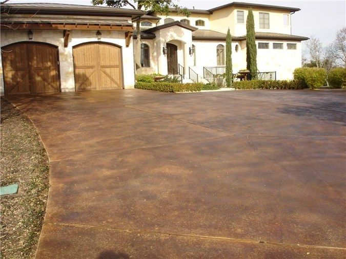 Staining concrete get the look exterior staining gkrete for Acid wash concrete patio