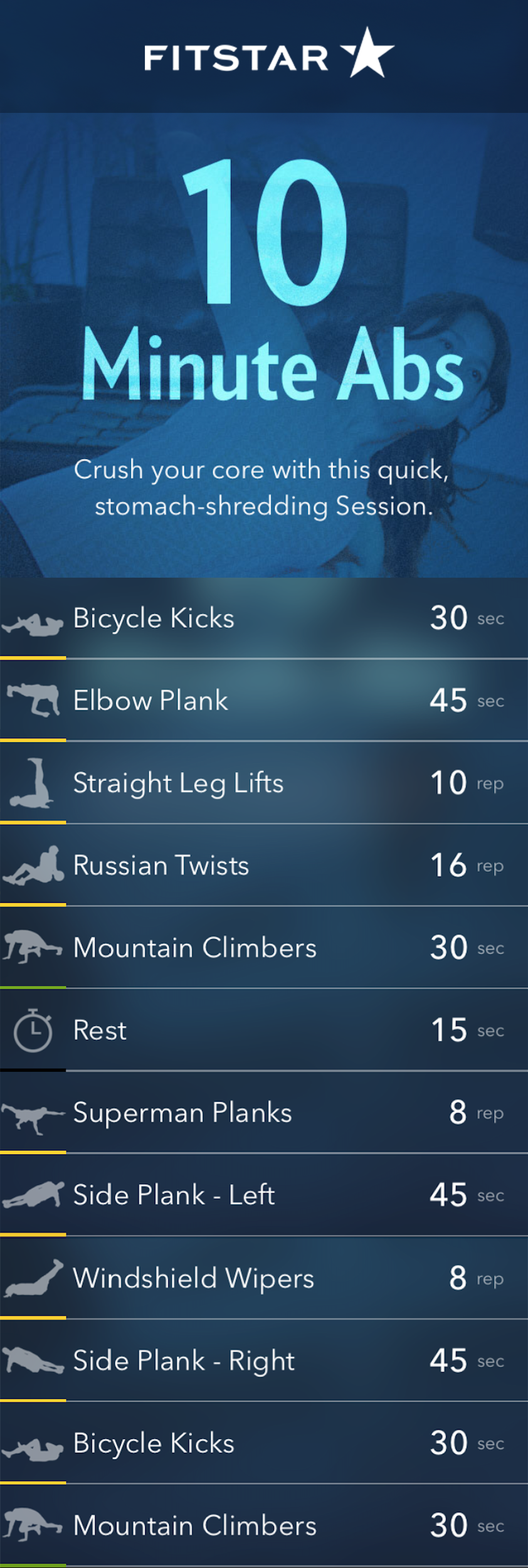 A 10 Minute Ab Workout from Fitstar to Rock Your Core #coreworkouts